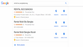 Cari Rental Bus Pangkalpinang